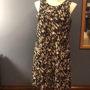 Anne Klein Black blue brown dress